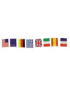 Banderas internacionales de papel