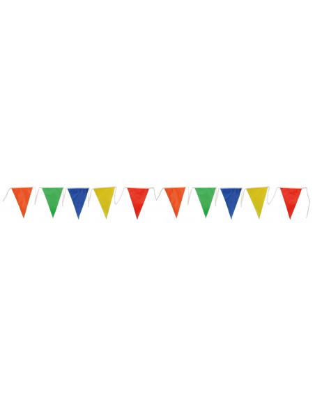 Banderines triangulares multicolor