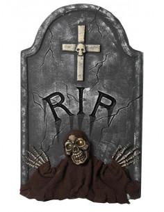 Lápida RIP cruz con led