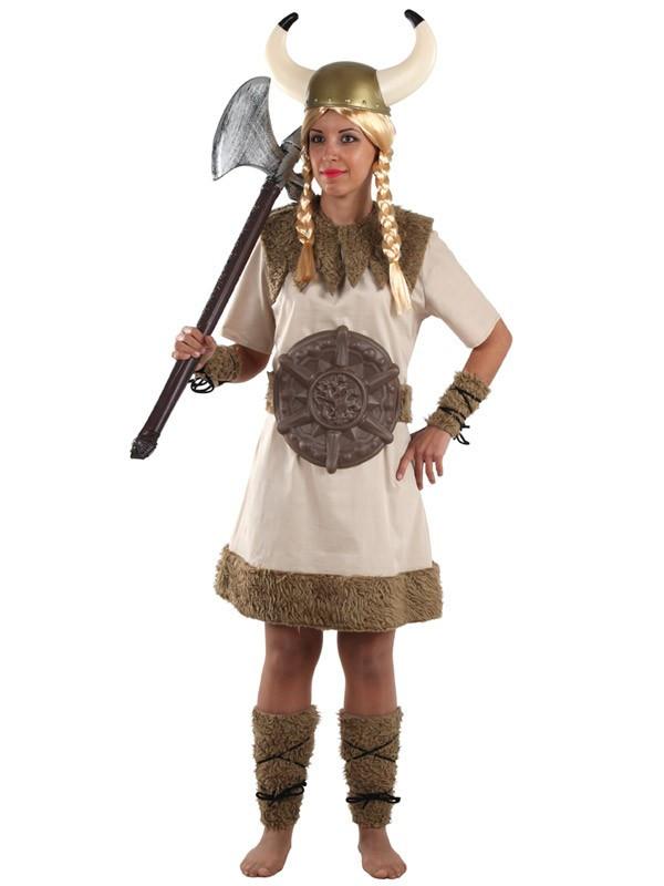 Disfraz de vikinga bruta para mujer