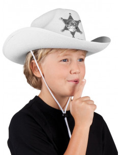 Sombrero sheriff blanco