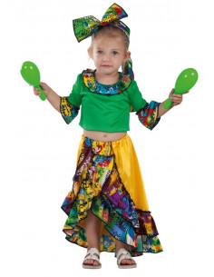 Disfraz de rumbera caribena bebe