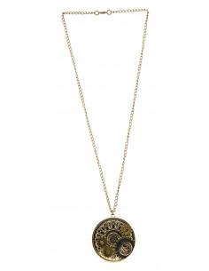 Medallón steampunk de engranajes