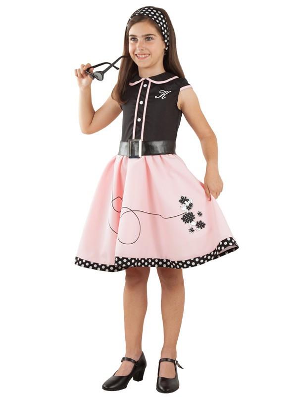 5ab3ebc447 Disfraz Vestido Años 50 para Niña - Comprar en Disfraces Bacanal