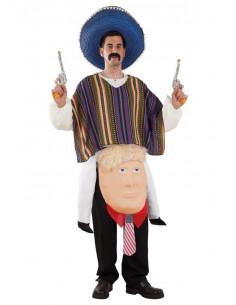 Disfraz de mexicano sobre Trump