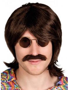 Peluca hippie con bigote