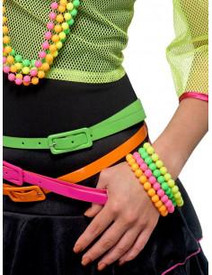 Pulseras de neon años 80