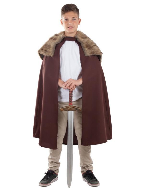Capa de guerrero medieval infantil