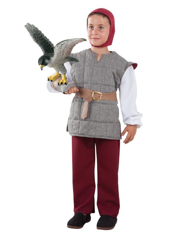 Disfraz de Cetrero medieval para niño