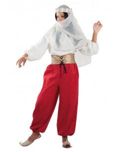 Disfraz de princesa árabe roja