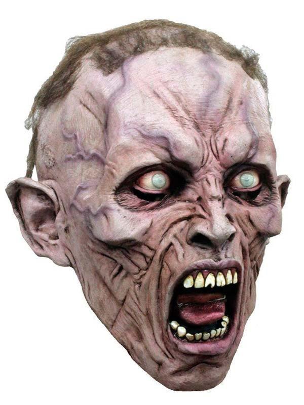 Mascara de Zombie con pelo Guerra Mundial Z