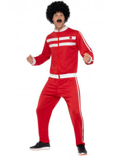 Disfraz chándal rojo años 80 hombre