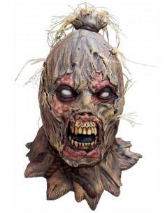 Mascara de Espantapájaros Zombie de látex