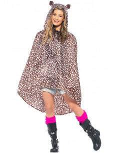 Chubasquero leopardo party poncho