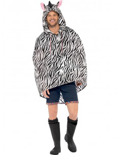 Chubasquero cebra party poncho