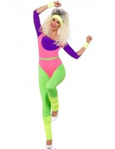 Disfraz gimnasta años 80 mujer