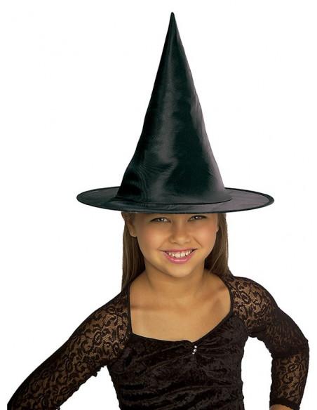 Gorro bruja raso negro infantil
