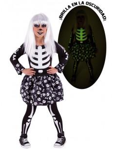 Disfraz esqueleto para niña