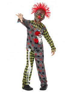 Disfraz de payaso arlequín para niño