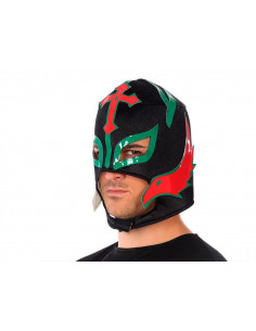 Máscara luchador mejicano negra