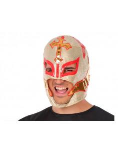 Máscara luchador mejicano dorada
