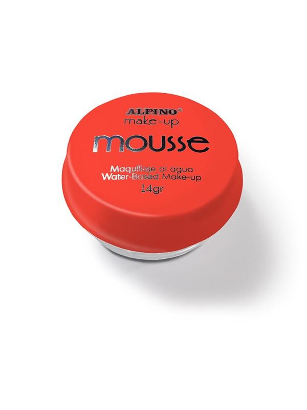 Maquillaje al agua Mousse rojo