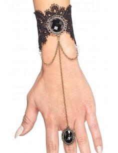 Pulsera gótica con anillo