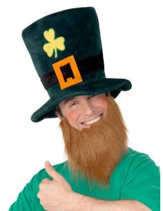 Sombrero San Patricio con barba hombre