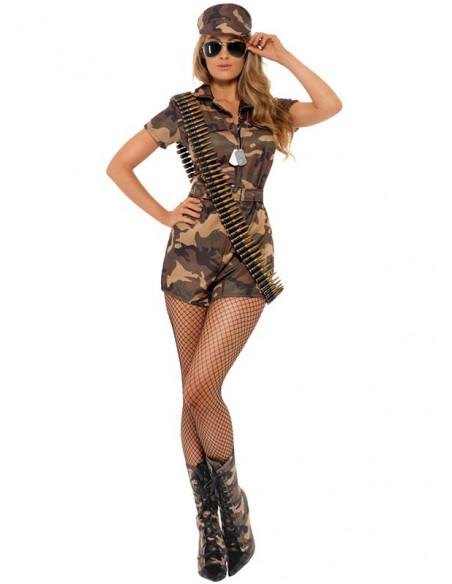 Disfraz militar sexy mujer