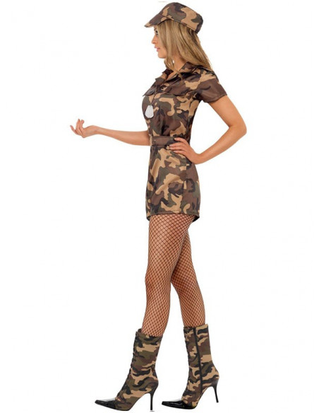 Disfraz militar sexy mujer lateral
