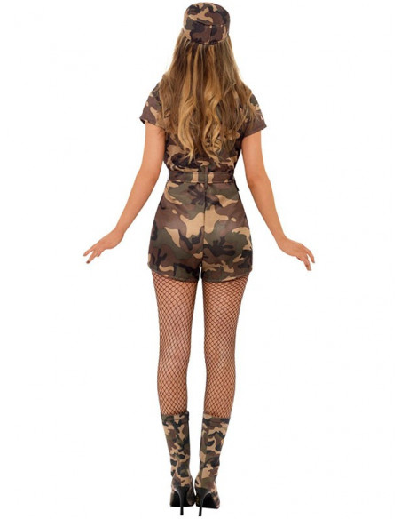 Disfraz militar sexy mujer trasera