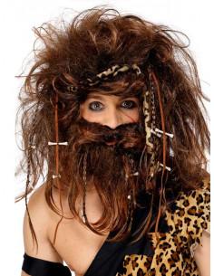 Peluca y barba de troglodita
