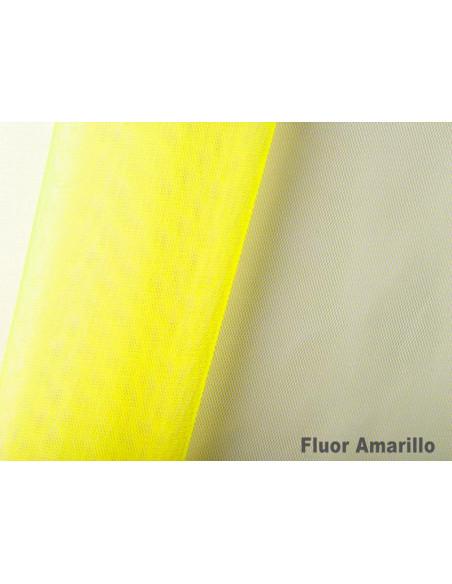 Tejido tul poliamida fluor amarillo