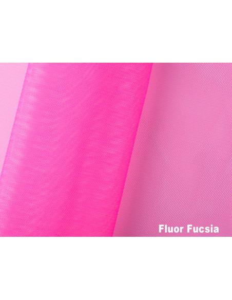 Tejido tul poliamida fluor fucsia