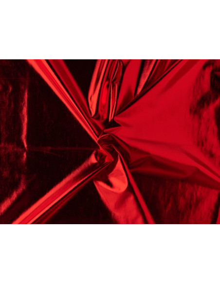 Tejido licra laminado rojo