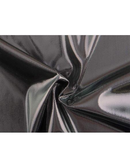 Punto metalizado dos tonalidades negro plata