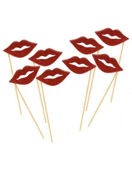Set photocall labios rojos