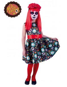 Disfraz Catrina día de los muertos para niña