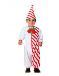 Disfraz bastón de caramelo bebé