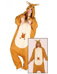 Disfraz canguro pijama para adulto