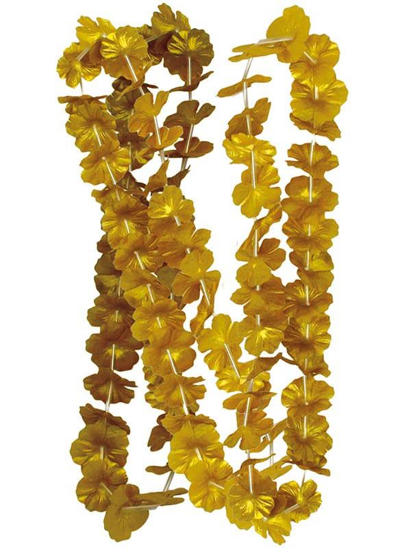 Collar flores metalizadas
