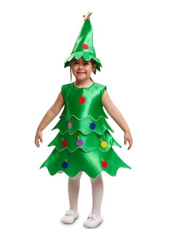 Disfraz árbol de Navidad para niña