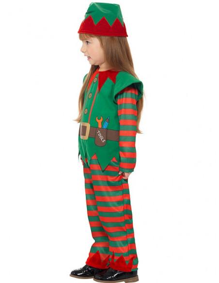 Disfraz elfo infantil unisex lateral