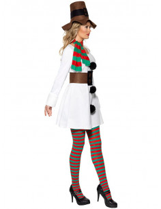 Disfraz muñeca de nieve para mujer