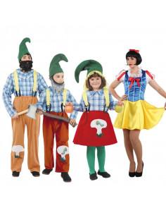 Disfraces de Blancanieves y Los 7 enanitos para grupos
