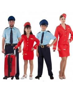 Disfraces de Azafatas y Pilotos de avión para grupos