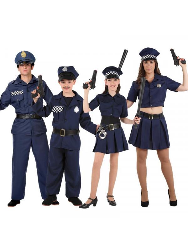 0311d9b28 Disfraz en Grupo de Policías - Comprar en Tienda Disfraces Bacanal