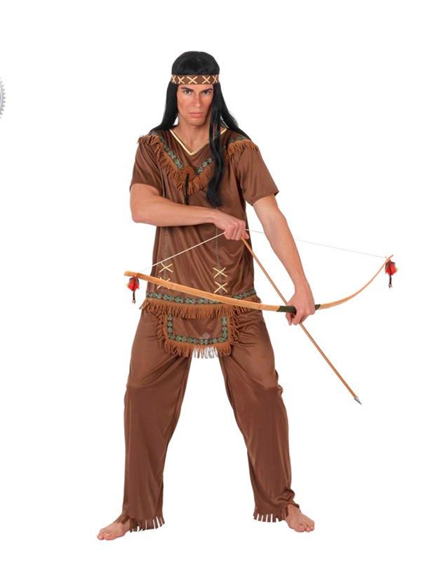 Disfraz Indio marron para adulto