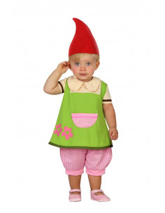 Disfraz duende bebe para niña