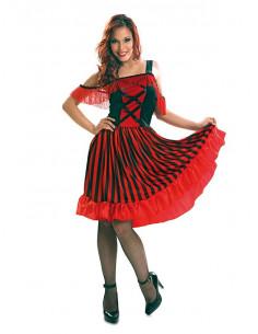 Disfraz de can can bailarina mujer